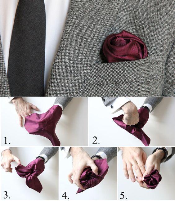 Pañuelo en forma de rosa