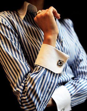 Camisa puño francés para mujer