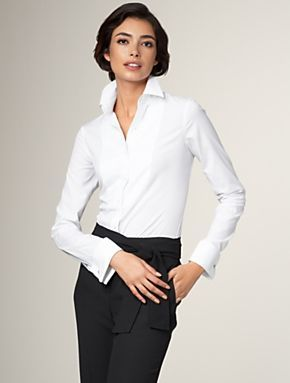 Blusa de puño francés para mancuernillas o gemelos
