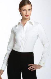 Blusa formal con mancuernillas