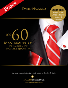 """Libro """"60 Mandamientos de Imagen del Hombre"""""""