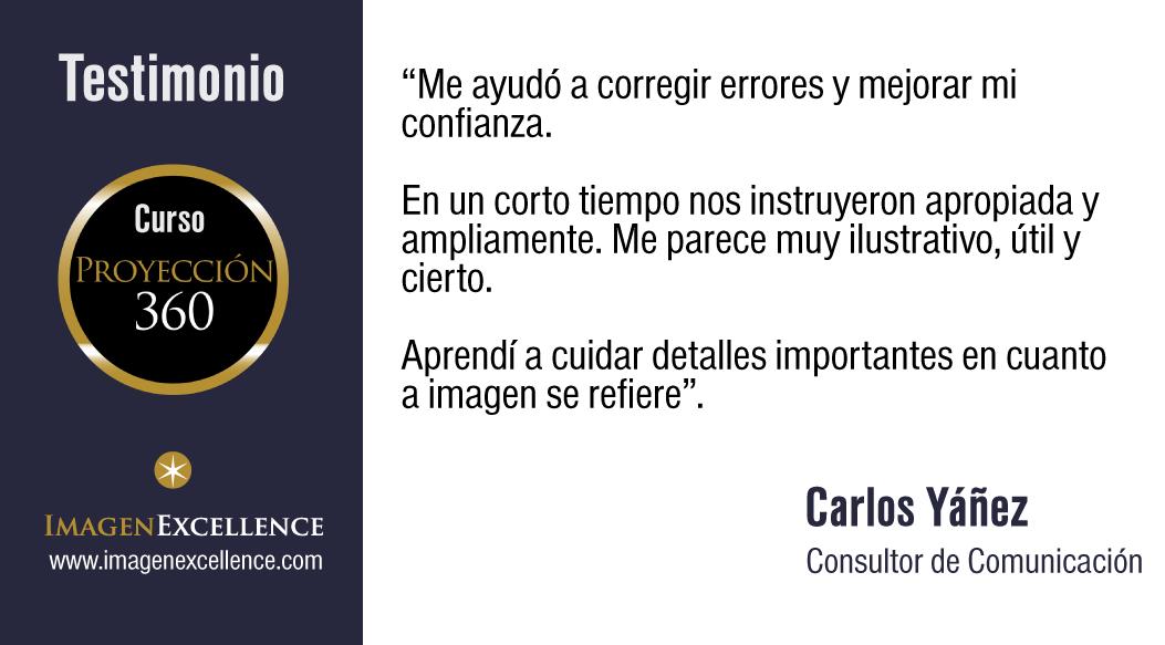 "Testimonio Curso Imagen Profesional ""PROYECCION 360"" de IMAGEN EXCELLENCE"